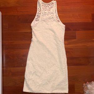 Hollister white lace bodycon dress